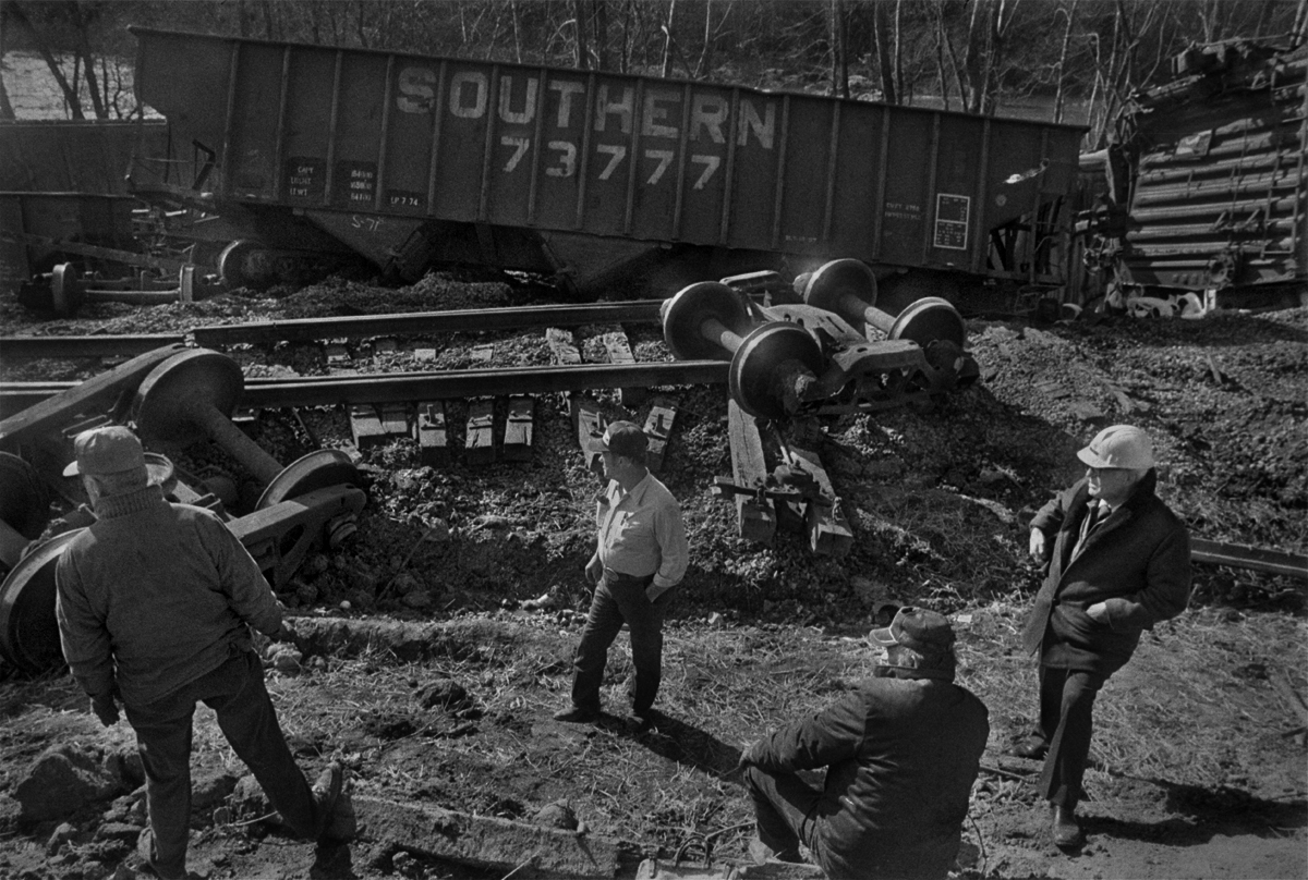 Derailed Norfolk Southern Train, Barnard, Madison County, NC 1978