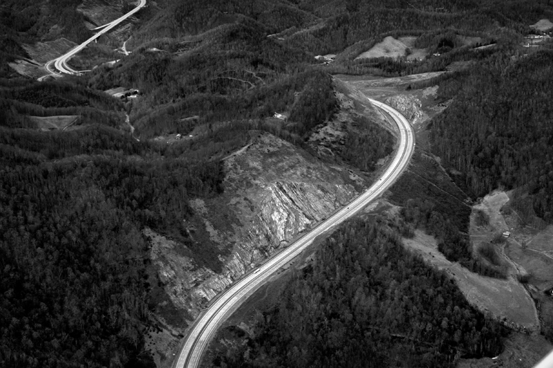 I-26 at Buckner Gap, Madison County, NC 2008.