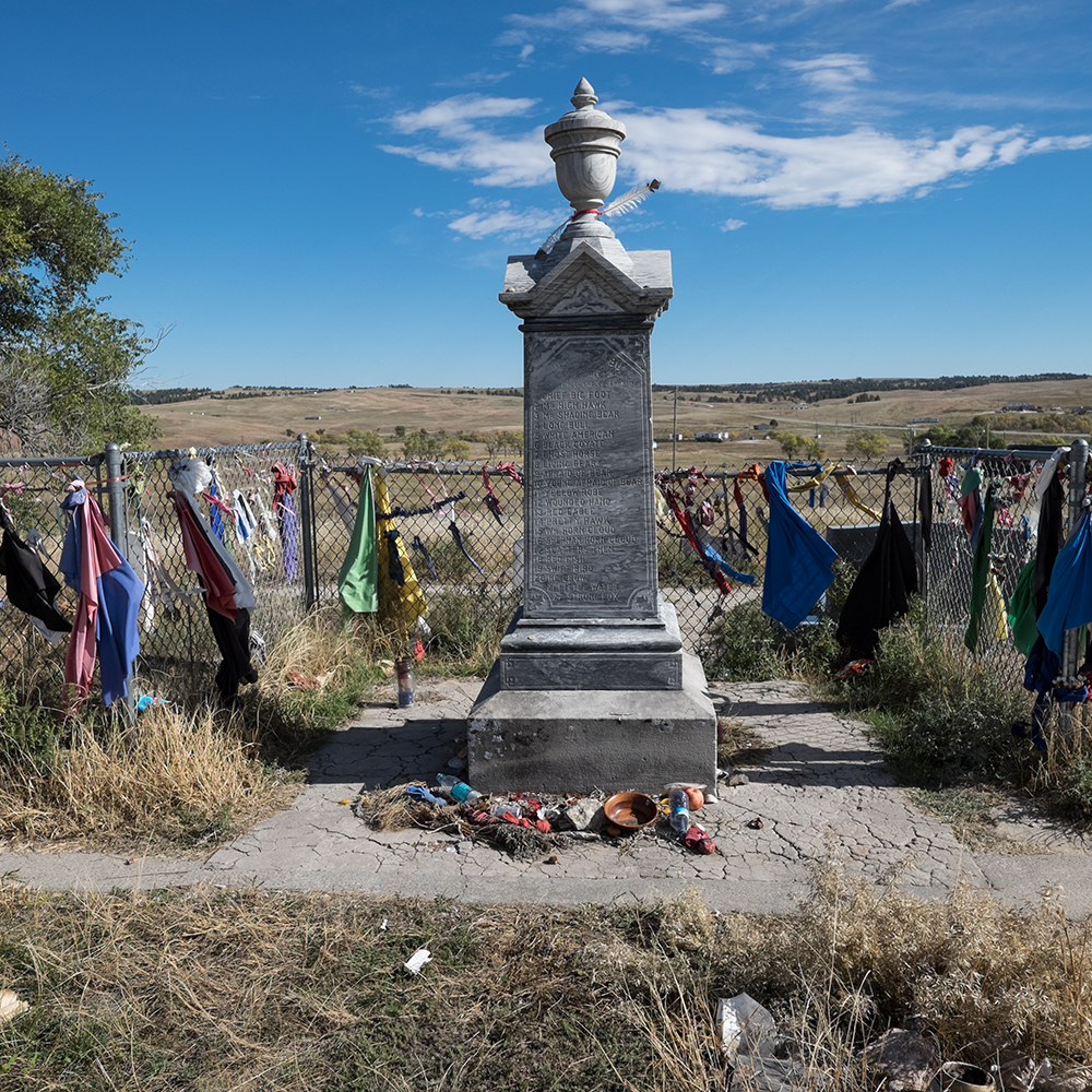 Victims Memorial, Wounded Knee Cemetery, South Dakota