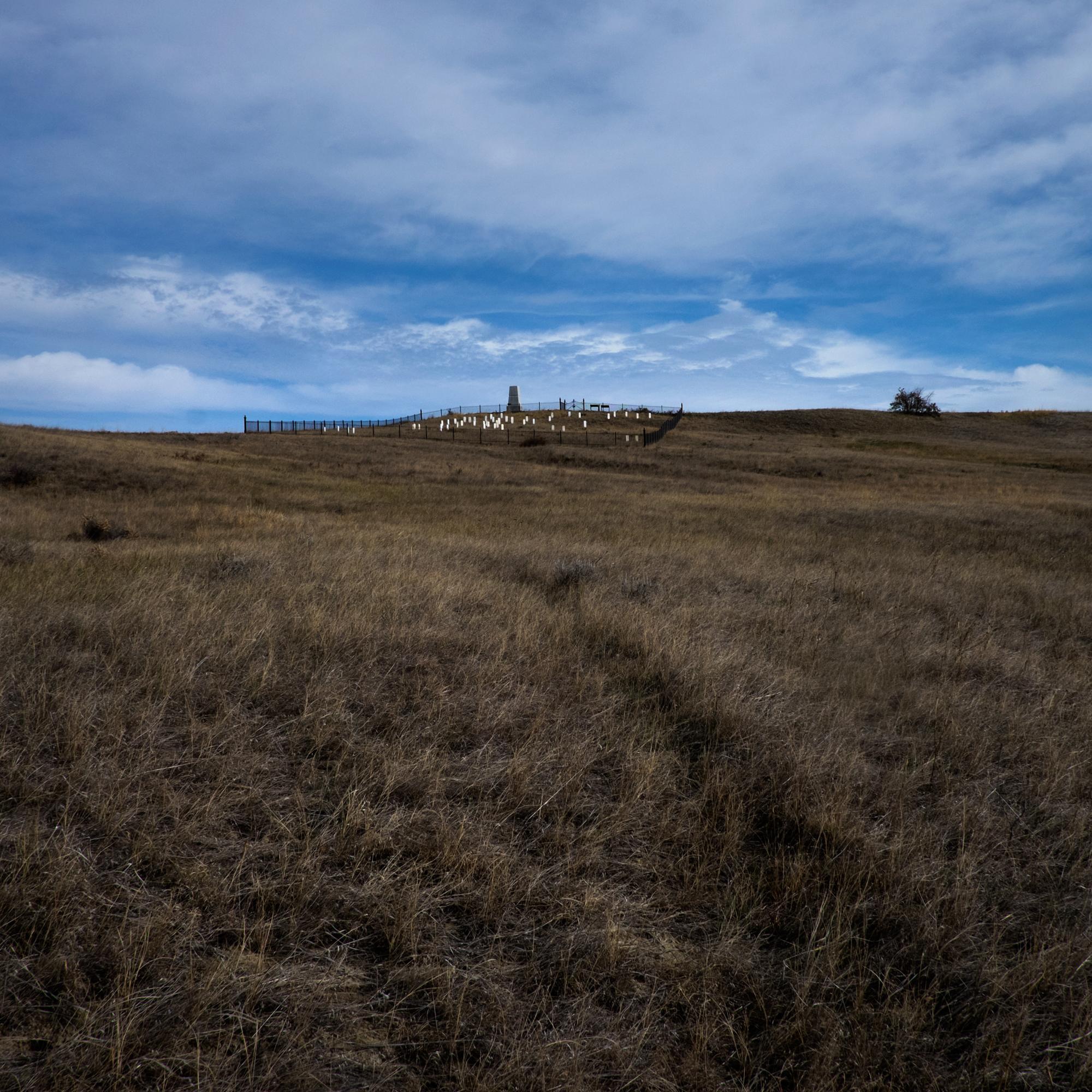 Last Stand Hill, Little Bighorn Battlefield Memorial, Hardin, Montana