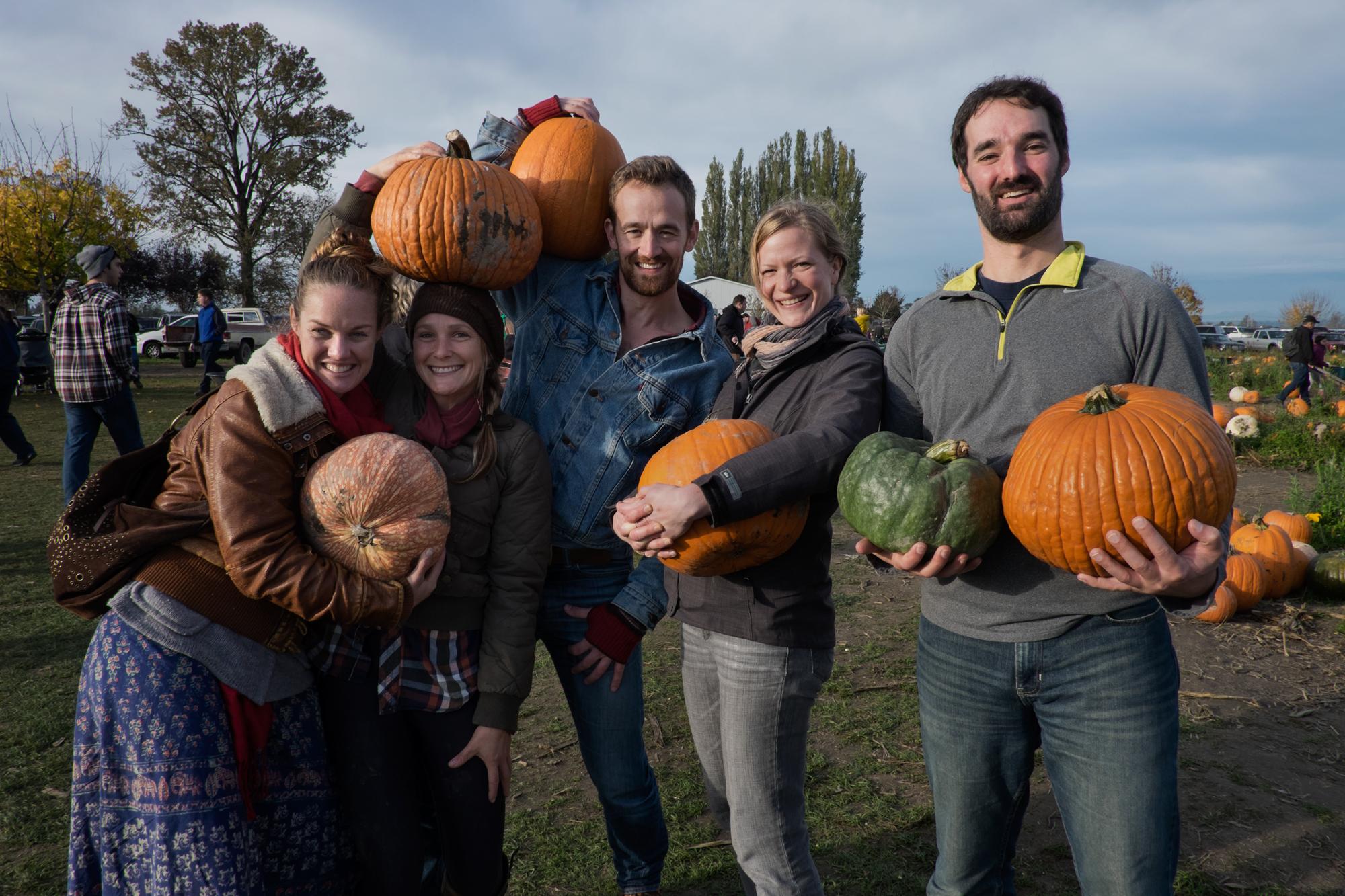 Rachel Tefft, Emily Naftalin, David, Laurie Webb, and Sean Mesford  at Craven Farm, Snohomish, Washington