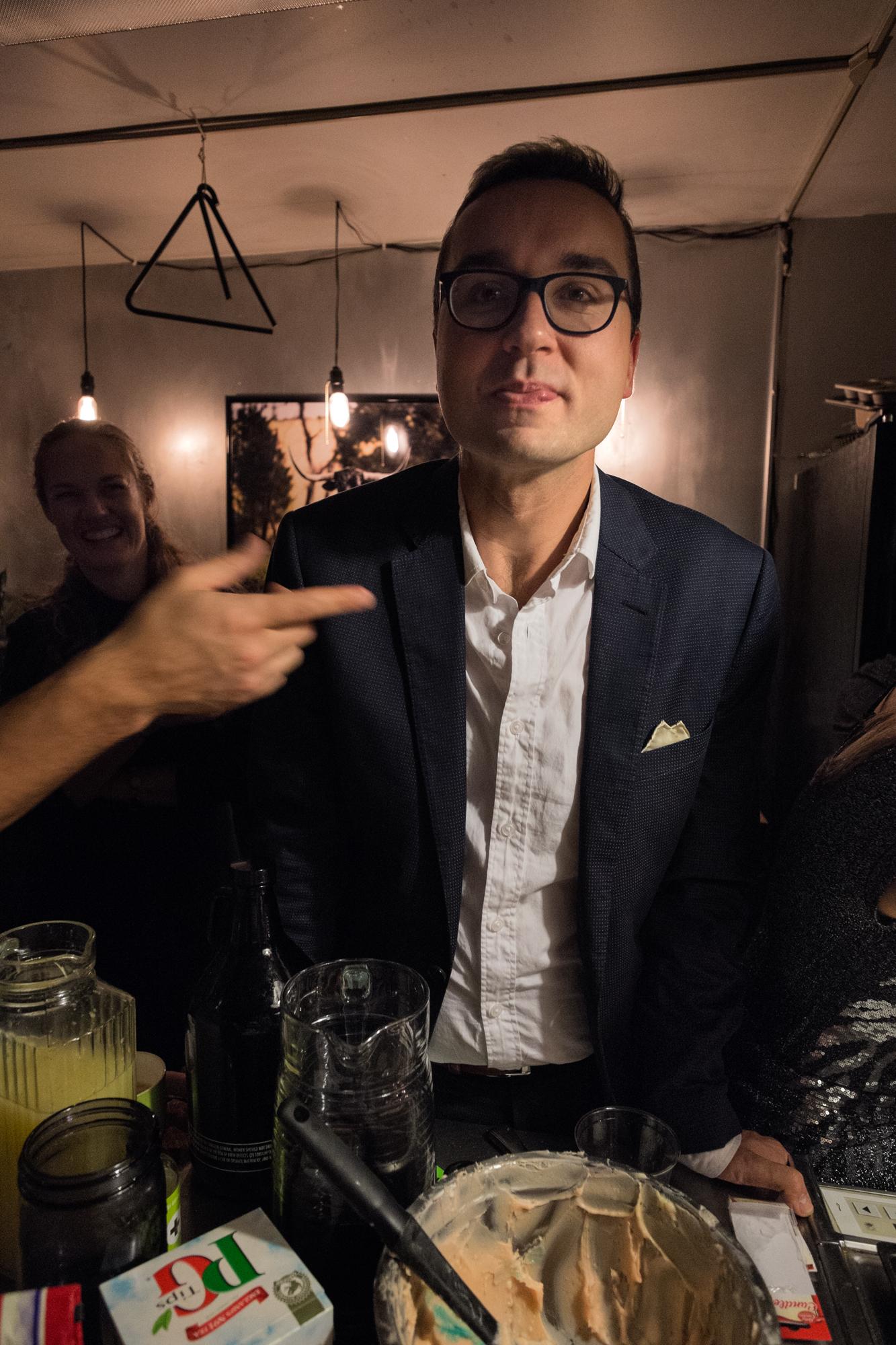 Alex Polzin at his 30th birthday party, Seattle, Washington