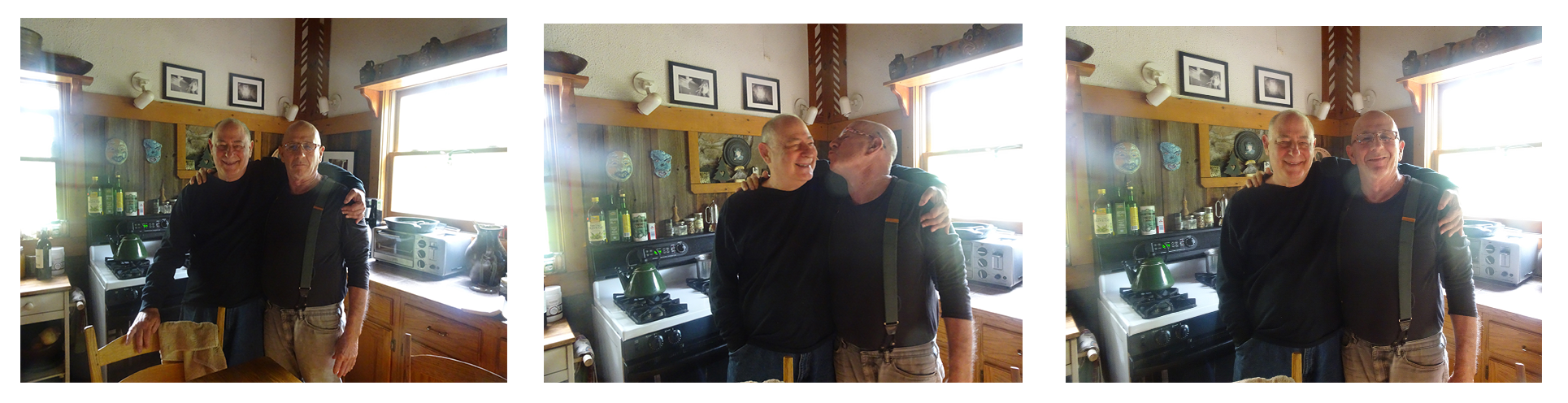 With Carl in our kitchen, PawPaw, 2016