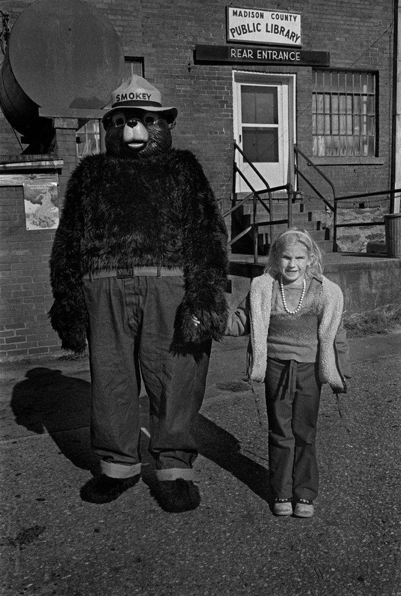 Heather and Smokey, Downtown Marshall, Madison County, NC 1982  Marshall just ain't what it used to be.