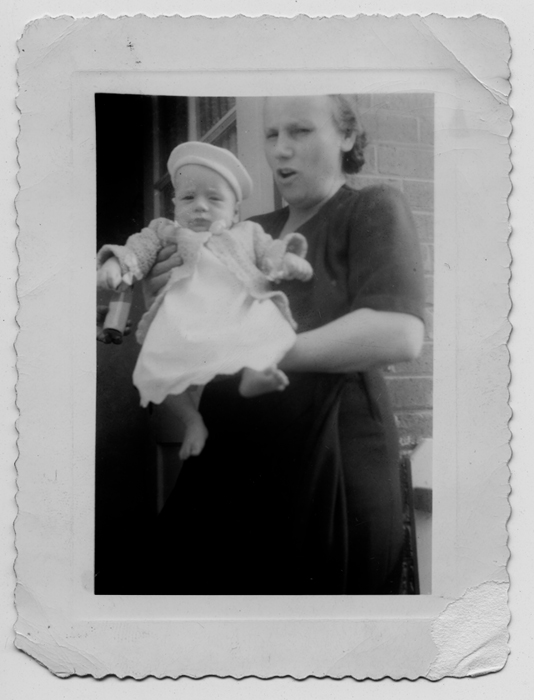 Jenny Galeano with me, her first grandson, Silver Spring, MD 1948.