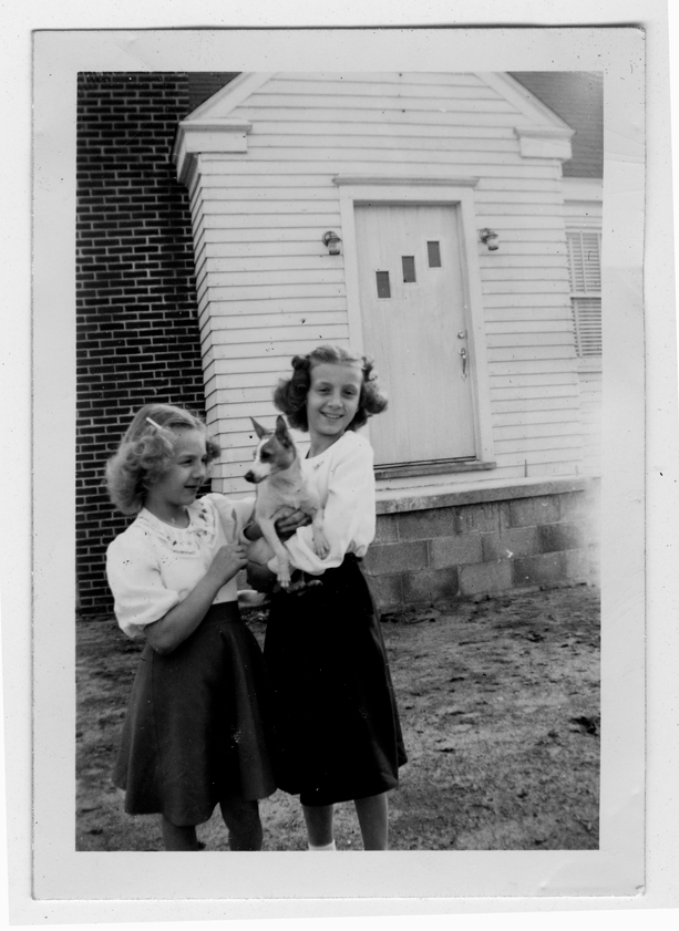 Cousins Janice Reed (left) and Dolores Oliveri, maybe in Delaware, ca. 1947.