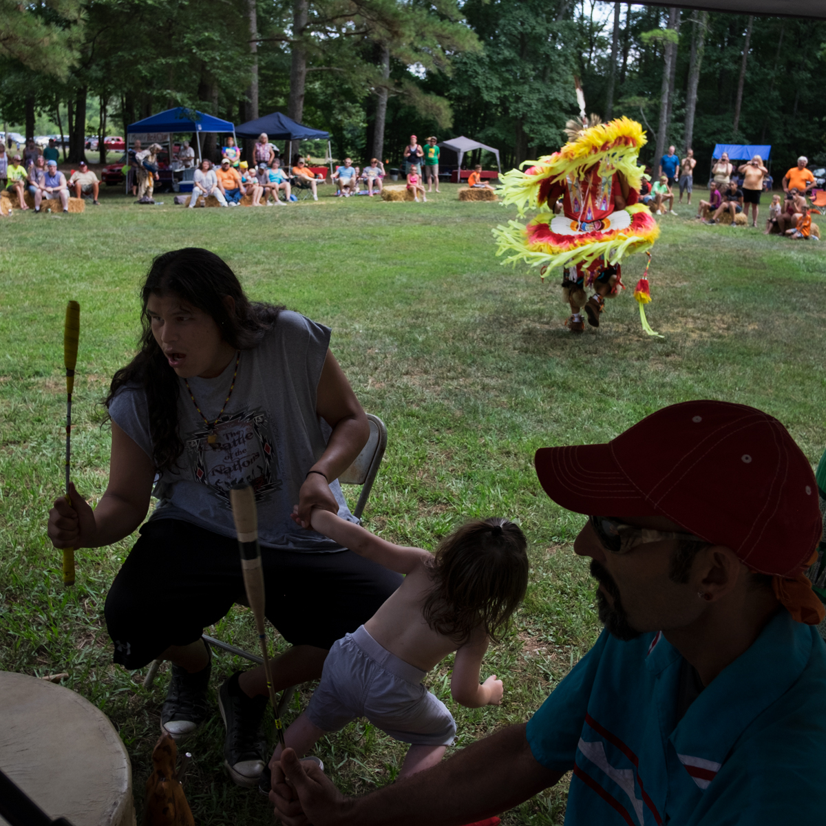 Fancy Dancing, 32nd Cherokee Tribal Reunion, Red Clay, Tennessee, 2016
