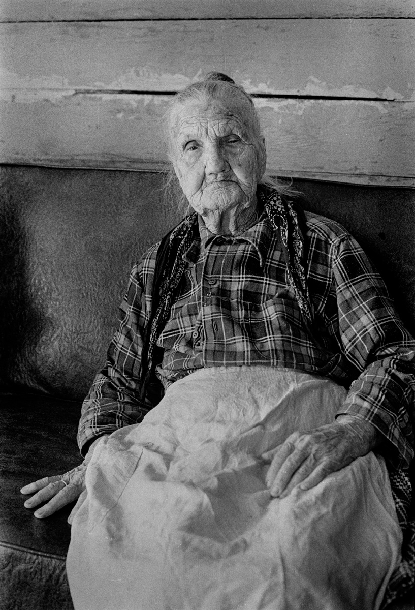 Zipporah Chandler Rice, Rice Cove, Madison County, NC 1976