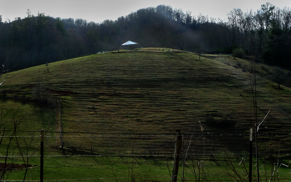 Burial Tent, Upper PawPaw, Madison County, NC 2011. - from  Little Worlds