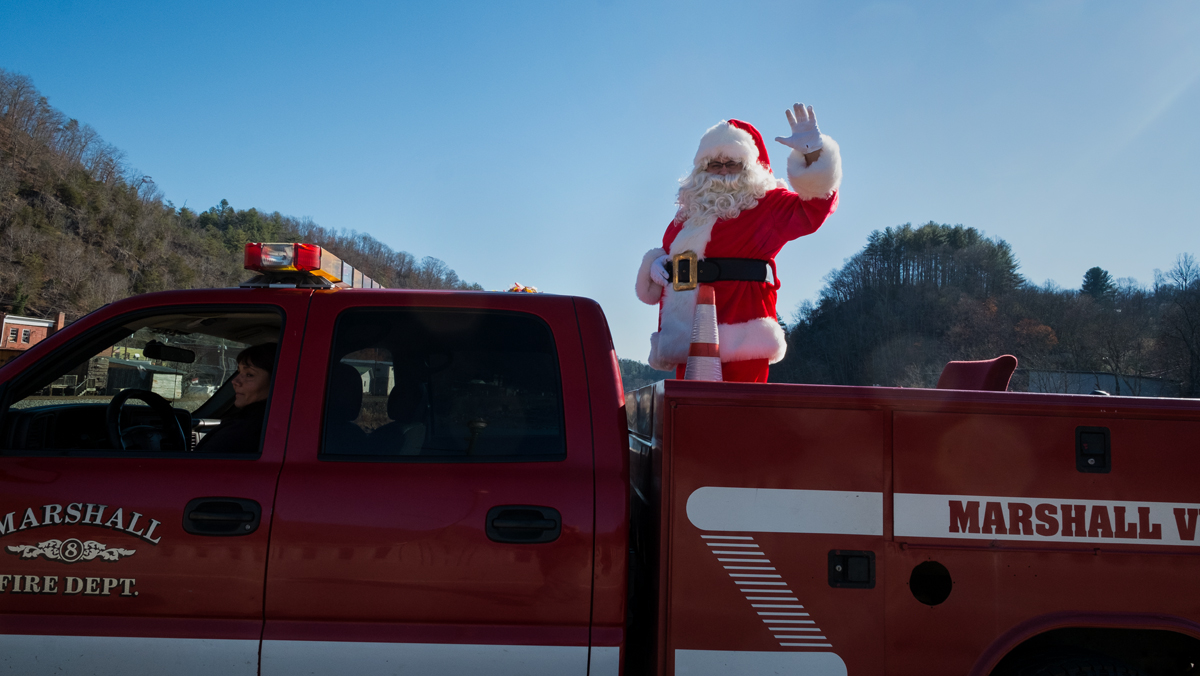Marshall Christmas Parade, Madison County, NC 2016