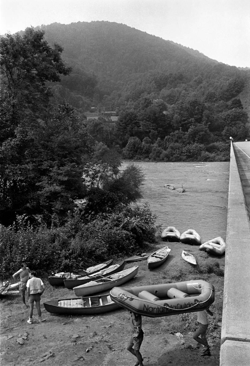 Barnard Park, French Broad River, Madison County, NC 1989.