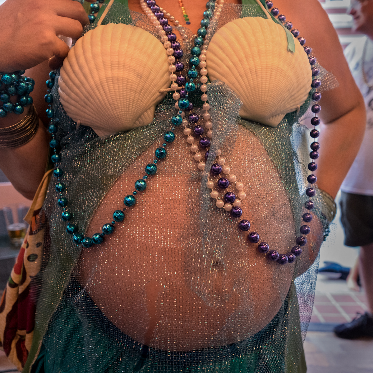 Anna with Child at the Mermaid Parade, Marshall, 2018