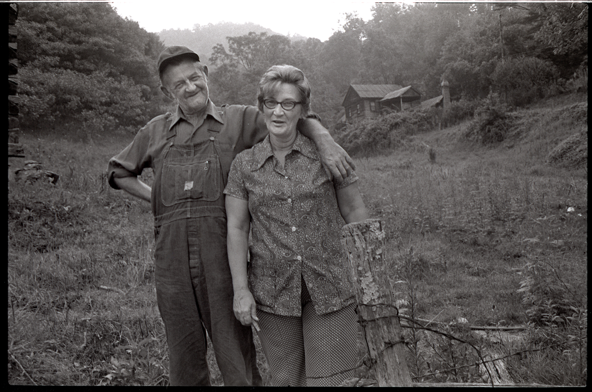 Joe and Marthie Chandler, Sodom, Madison County, NC 1975