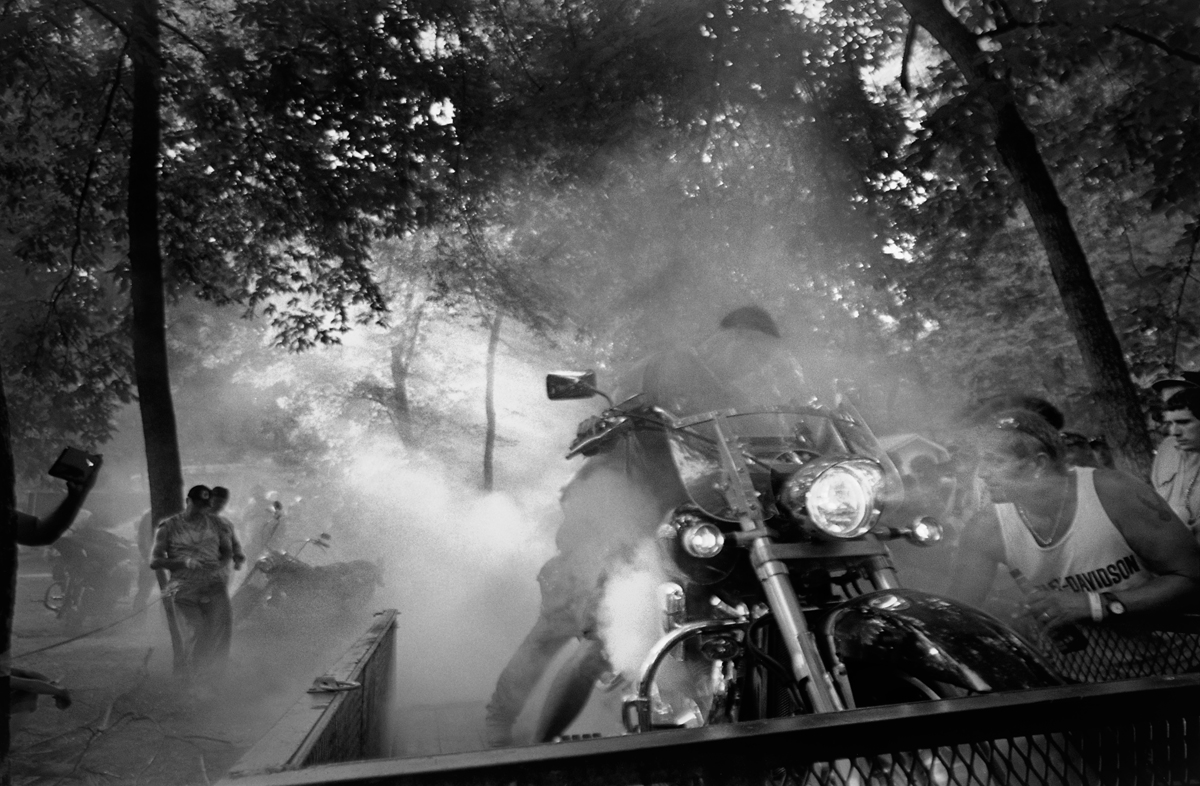 Burn Out at the Harley Rally, Hot Springs, Madison County, NC 2012
