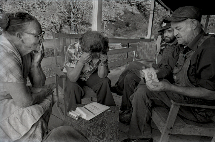 Playing Set-Back on Dellie's Porch, a nightly happening during summers, Sodom, 1977.      - from  Sodom Laurel Album