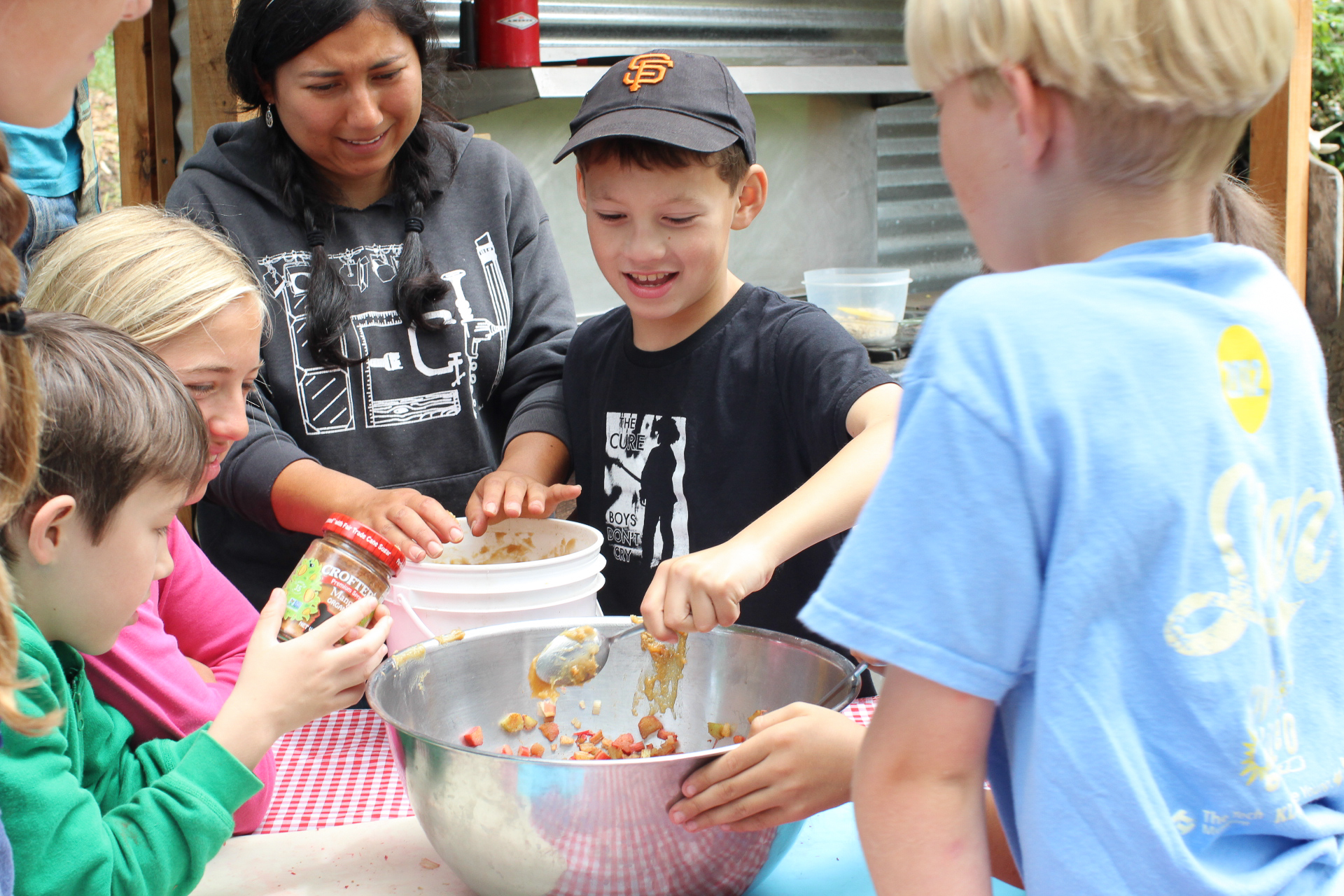 We use many mixing bowls and utensils during our farm to table cooking and baking sessions with school and community groups.