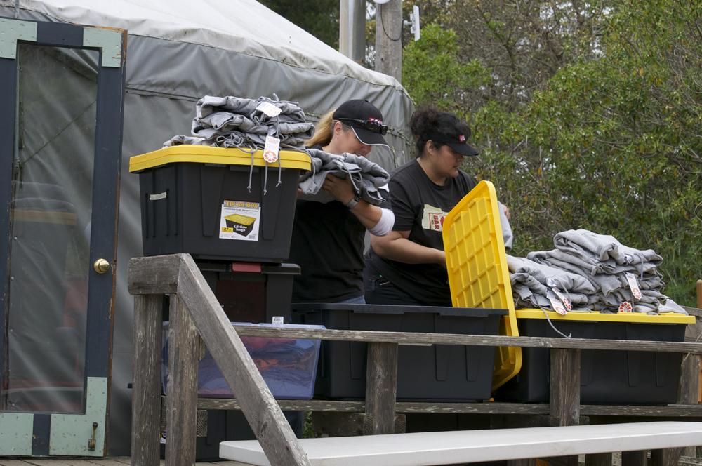 Clif Bar Volunteer Day At Slide Ranch - sorting tees.jpg