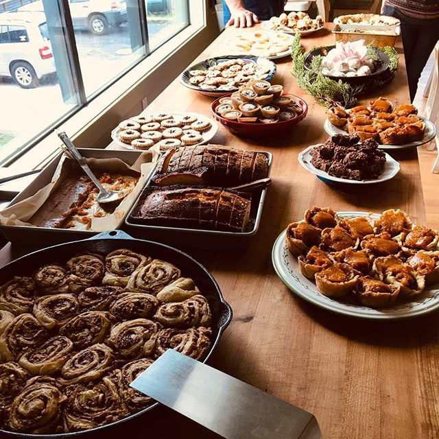 Our staff not only rocks at what they do every day but they are also amazing bakers! All of them! 😍 Check out our little dessert display for our holiday party. Disclosure: these goodies taste even better than they look! Yum! #slideranch #happyholidays