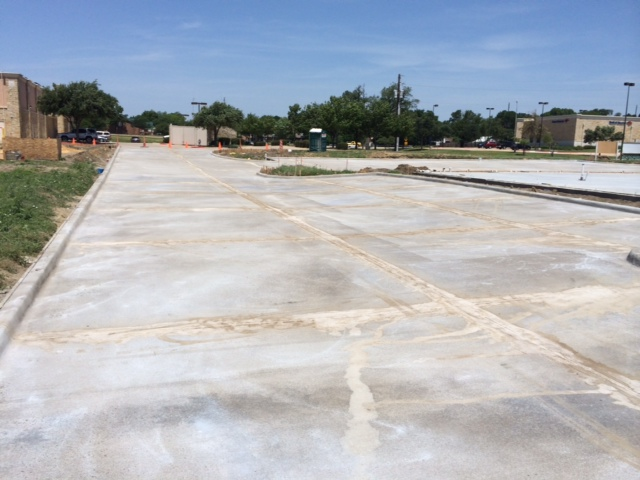Completed Parking Lot