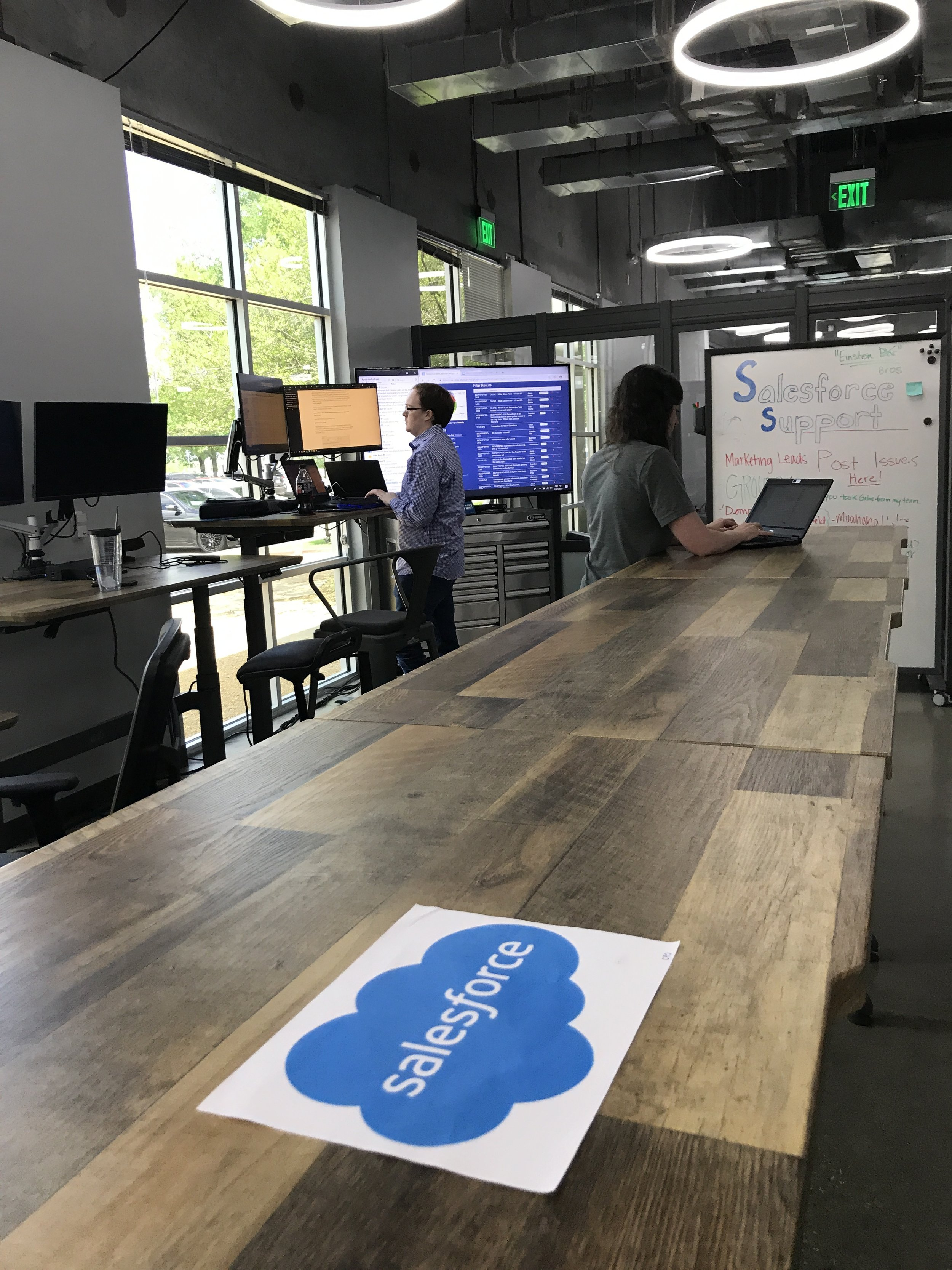 VARIDESK and Salesforce integrated their partnership on location.
