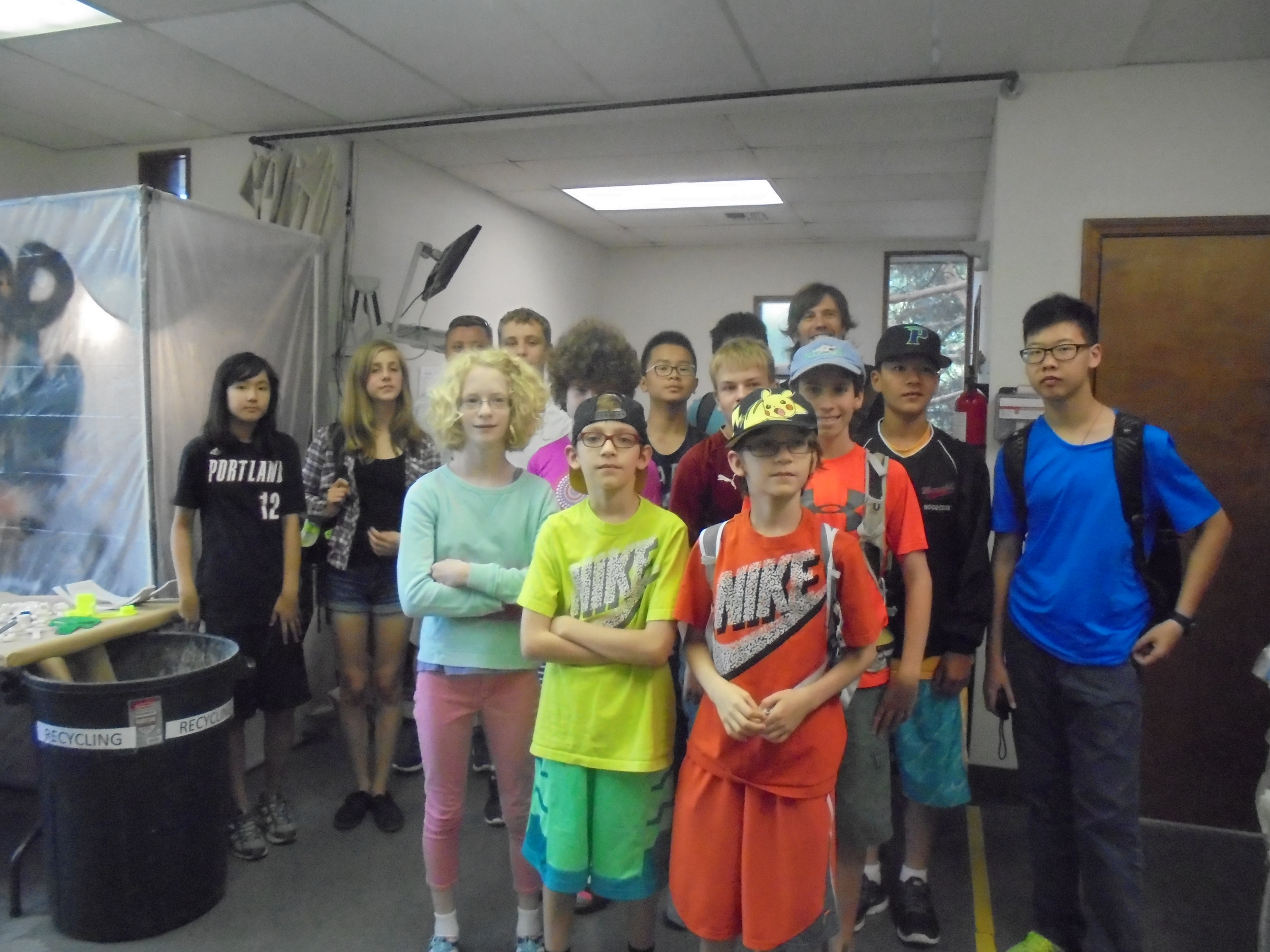 Middle School students from Catlin Gabel 3D printing camp enjoy RapidMade tour