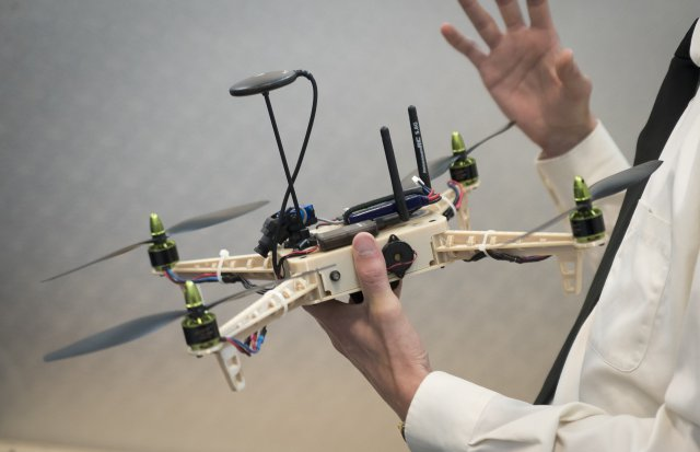 UAS 3D printed at the Army Research Laboratory (Photo Credit: Jhi Scott, ARL Public Affairs)