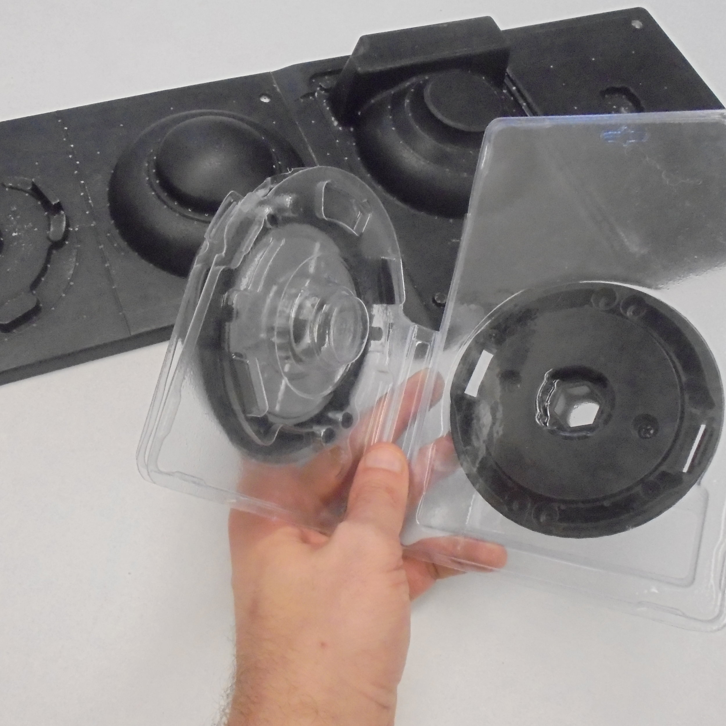 Clamshell packaging formed on tooling made in under 24 hours