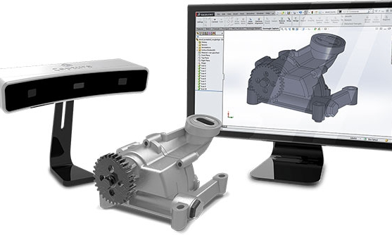 3D scanner used for quickly create CAD models of existing objects for reverse engineering.
