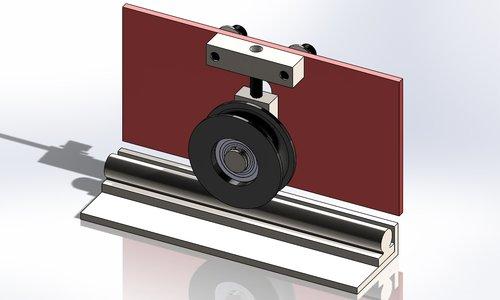 Digital design for reverse engineered roller assembly.