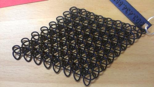black nylon lattice sls