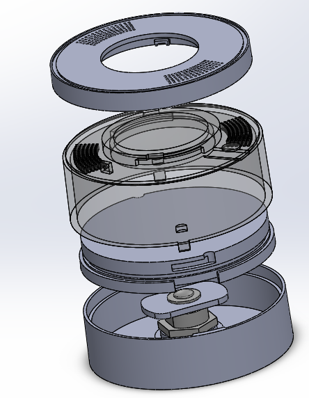 Product design for plastic injection molded assembly.