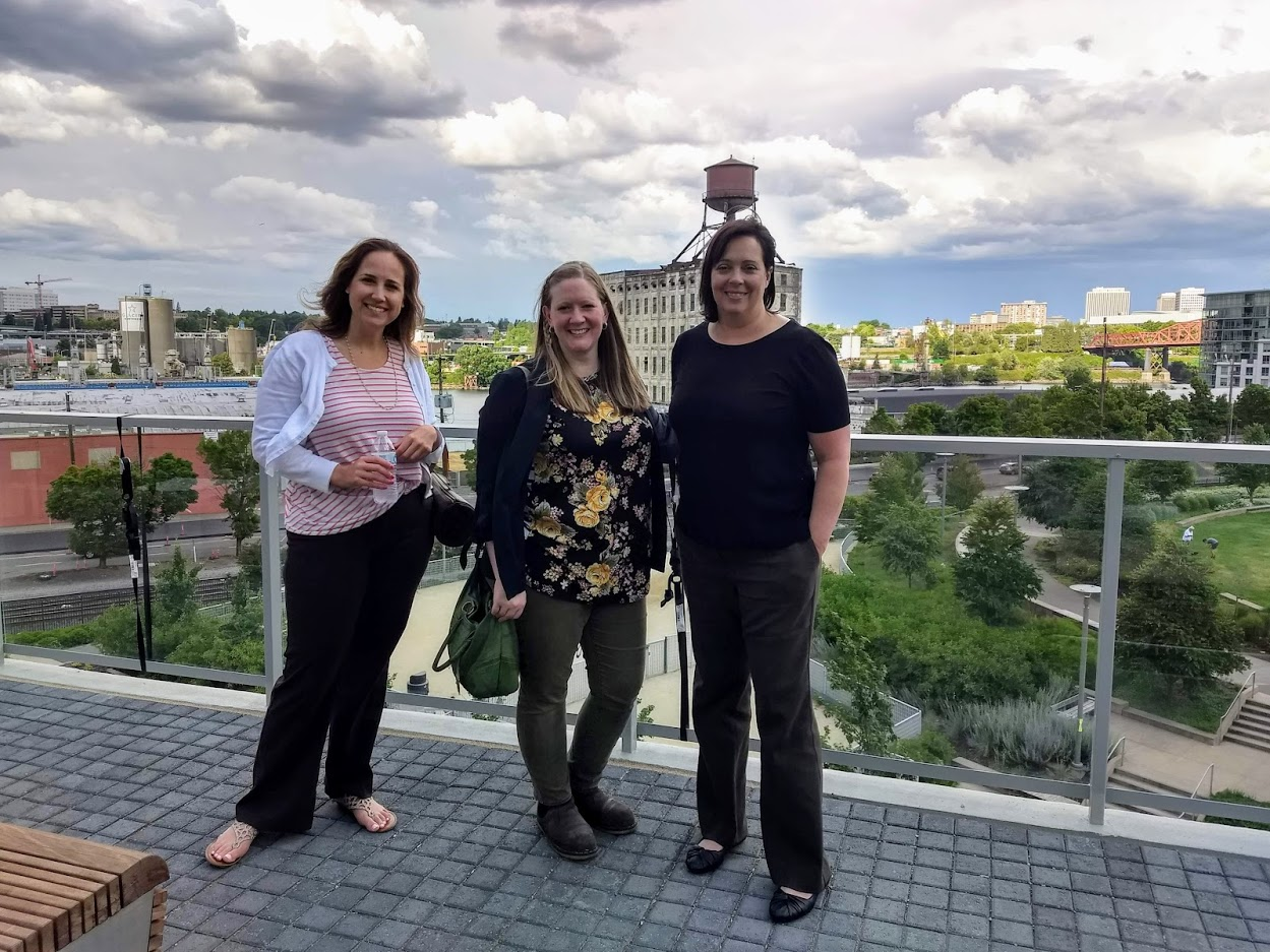 WiM members enjoying the view before dodging rare Portland thunderstorm
