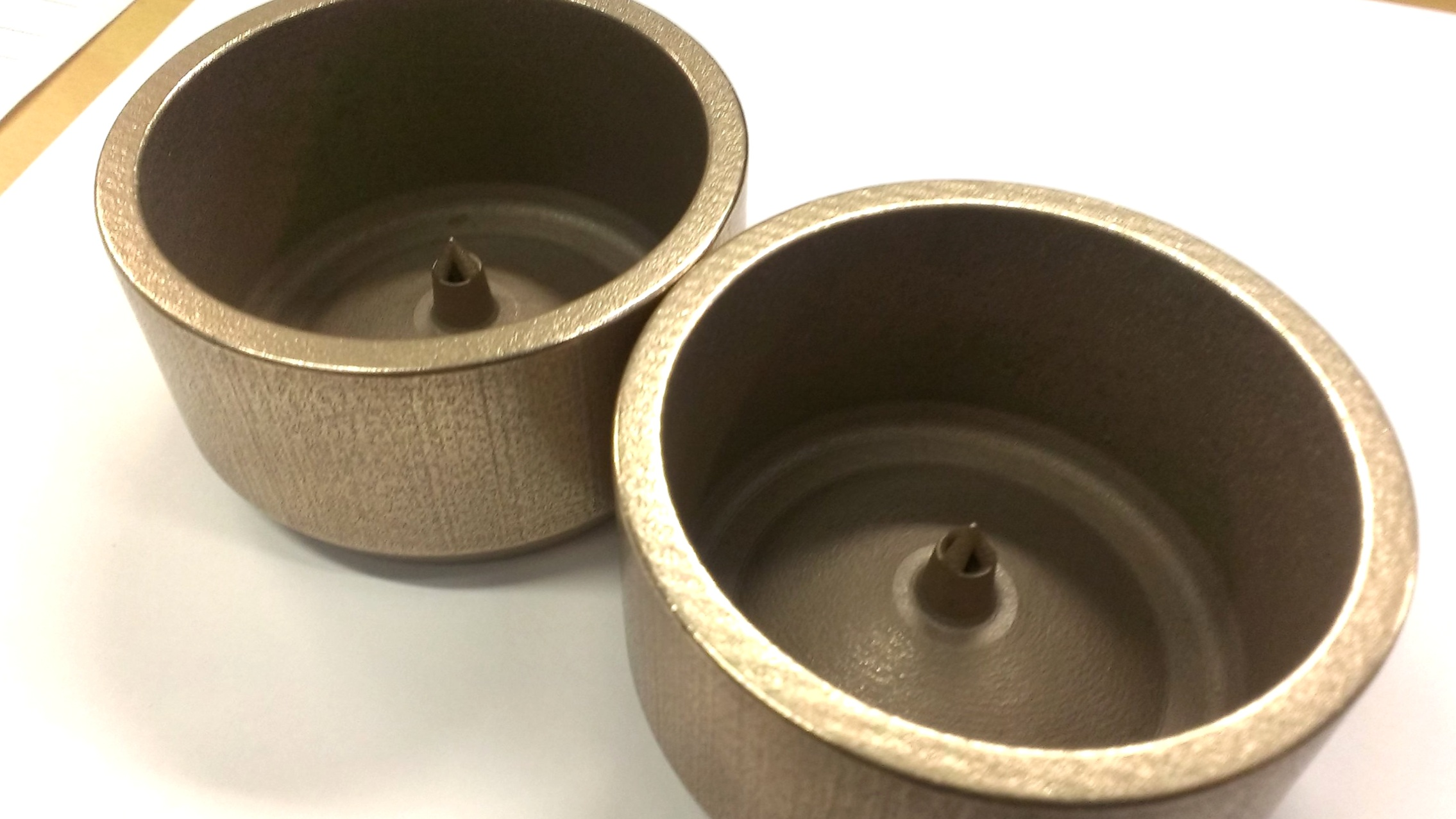3D printed metal parts made of bronze alloy