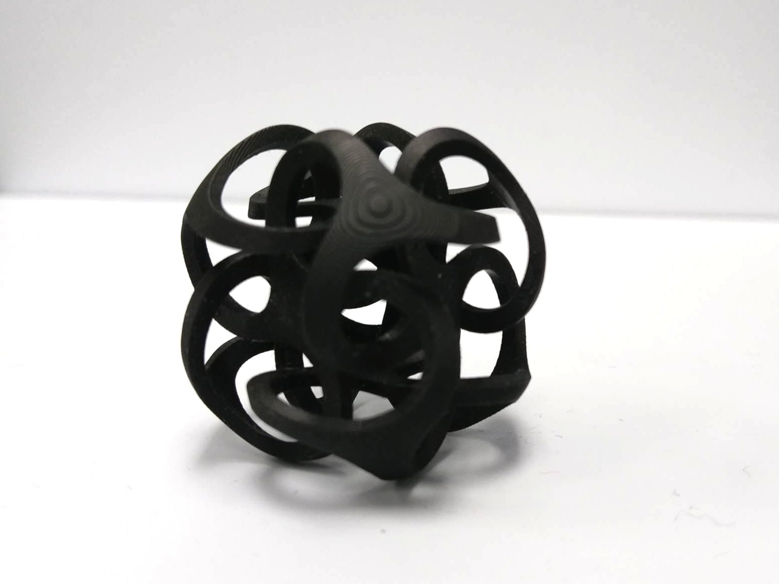 SLS 3D printed object made with flame-retardant nylon.