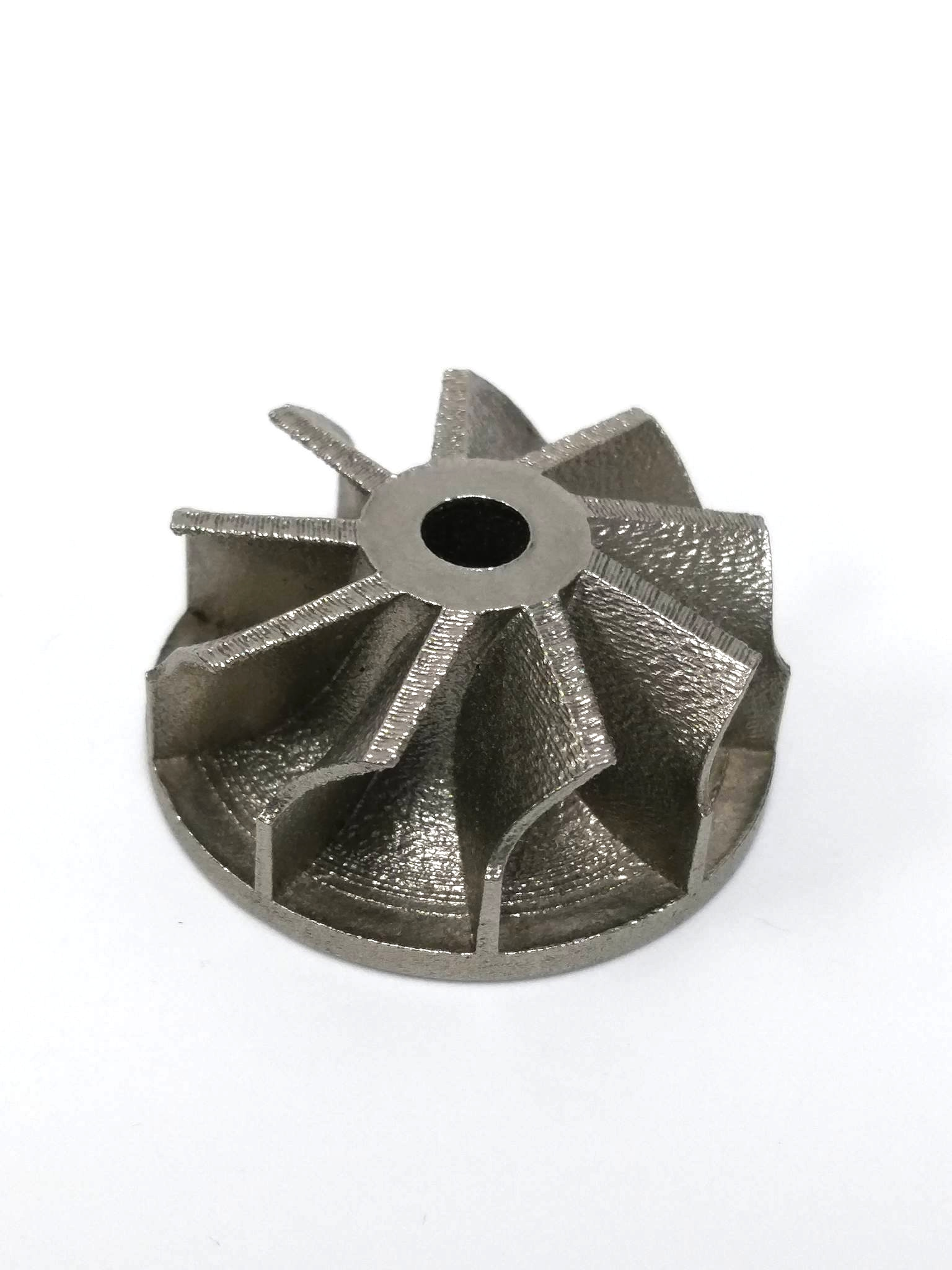 3D printed stainless steel fan made with DMLS.