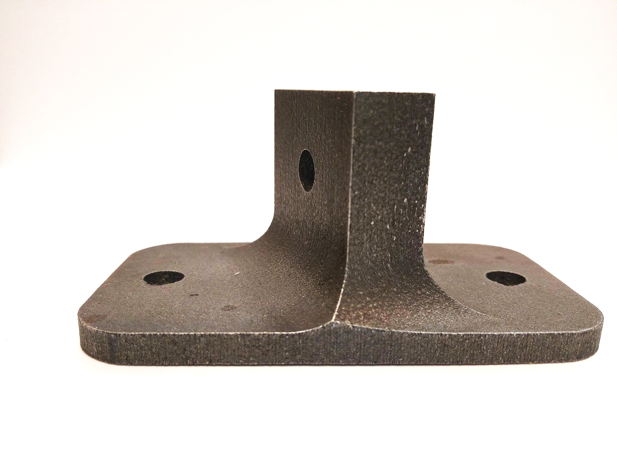 Industrial-strength DMLS 3D printed metal bracket made with maraging steel MS1.