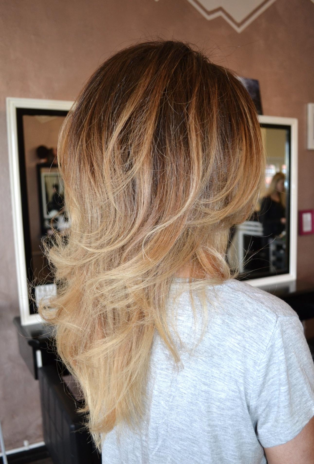 blonde blayage