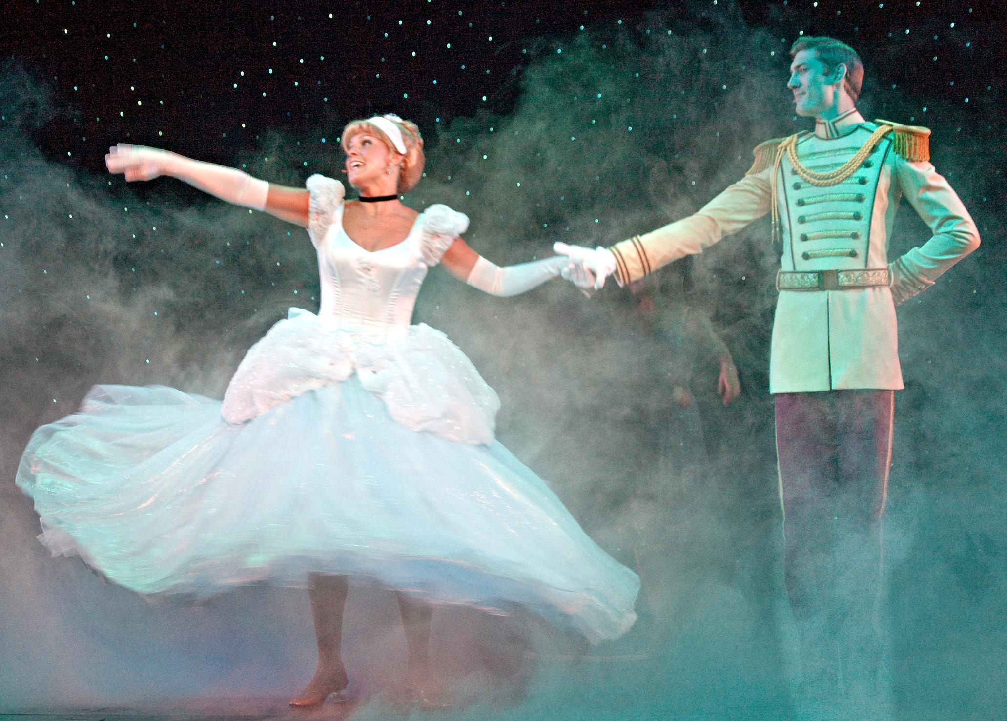 James Portrays 'Prince Charming' w/ Cinderella.