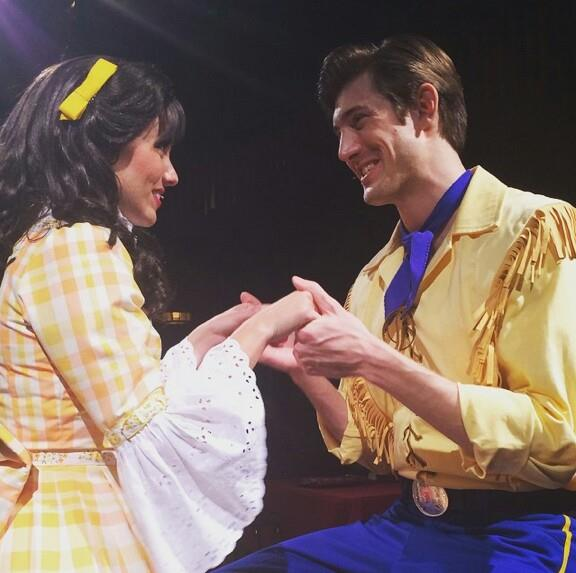 James as 'Jim Handy' with the lovely Miss Flora Long.