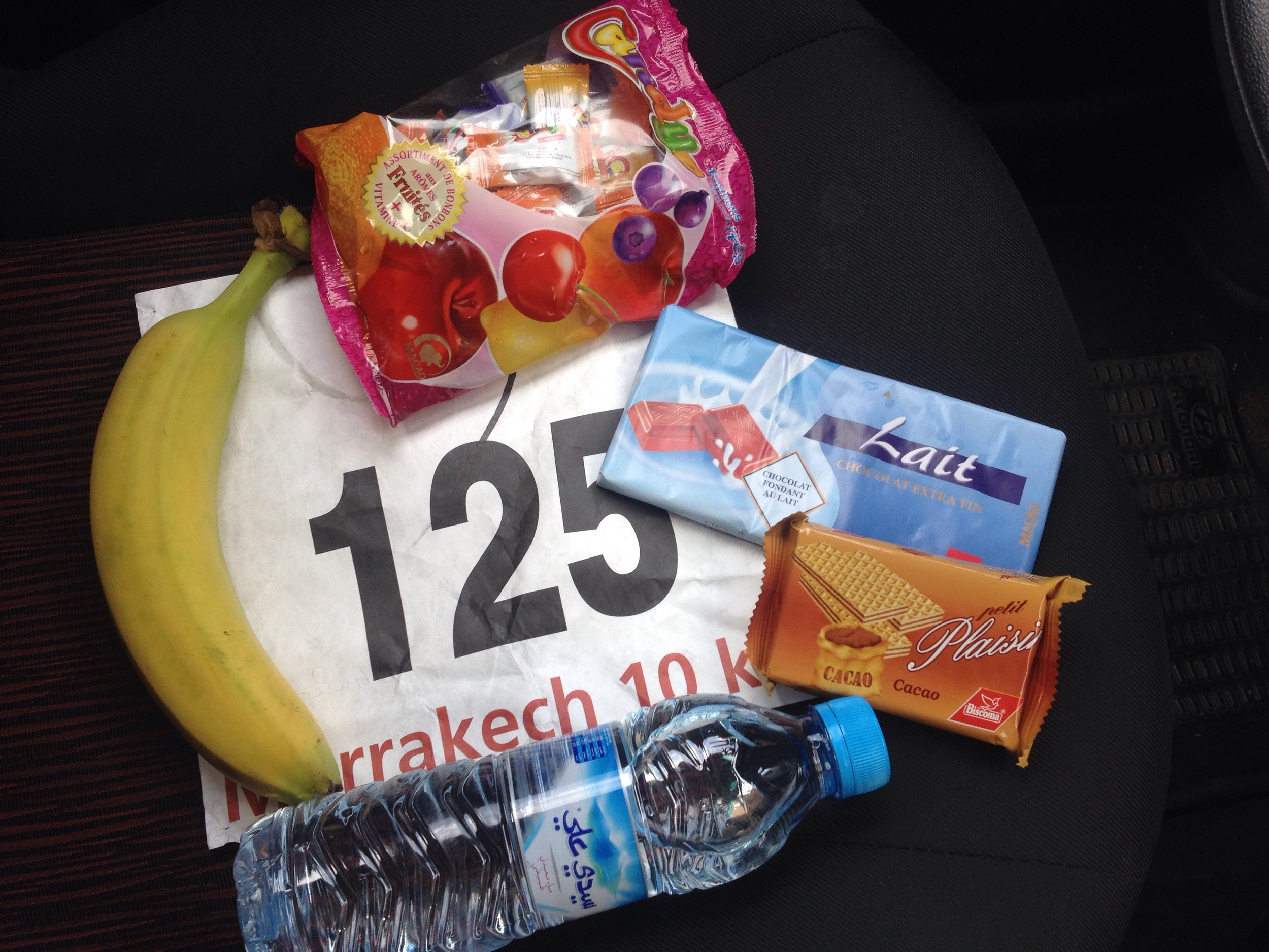 My race number and the stuff from my swag bag