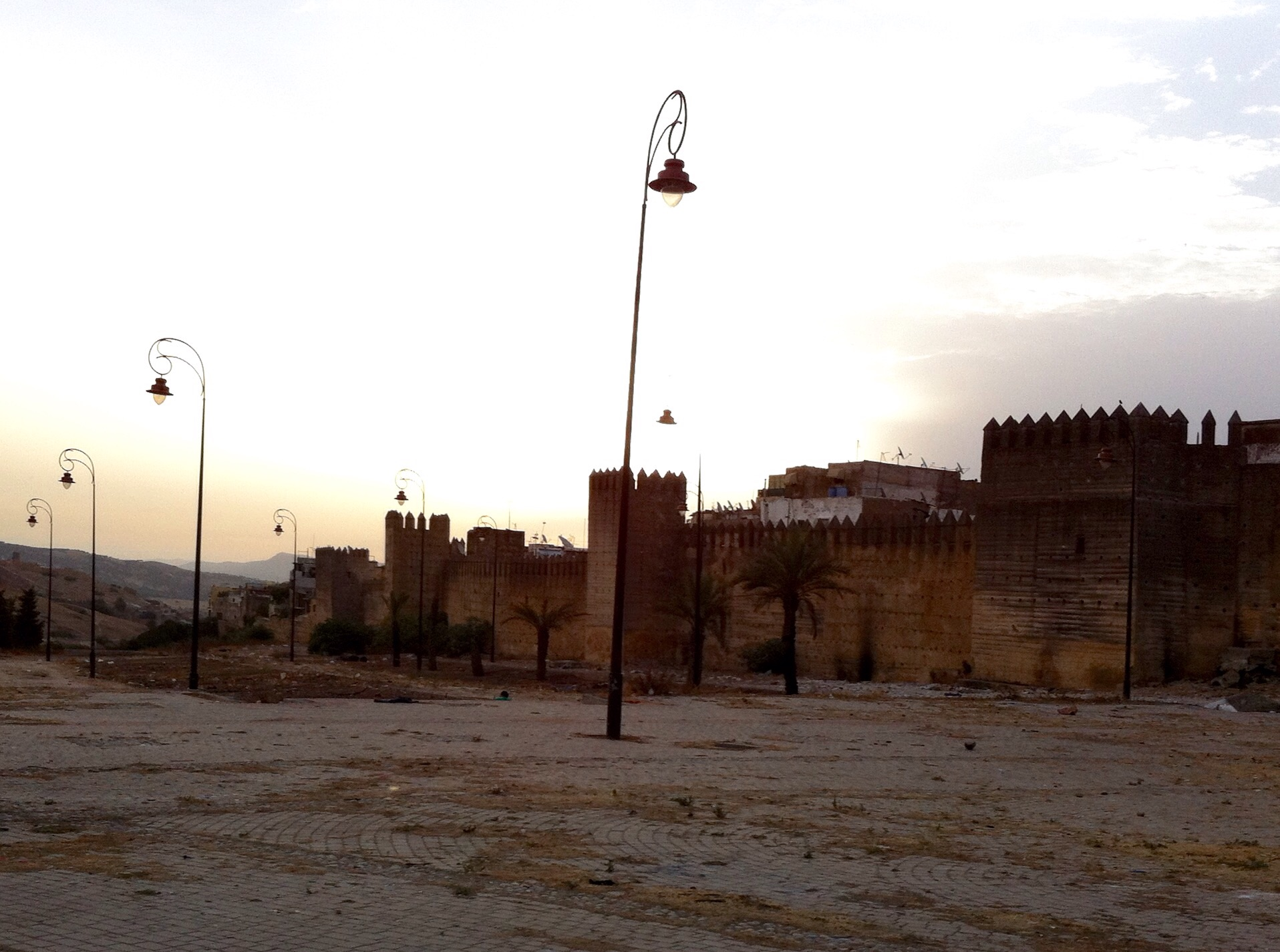 The old wall of Fes at Place Bouljloud where we started