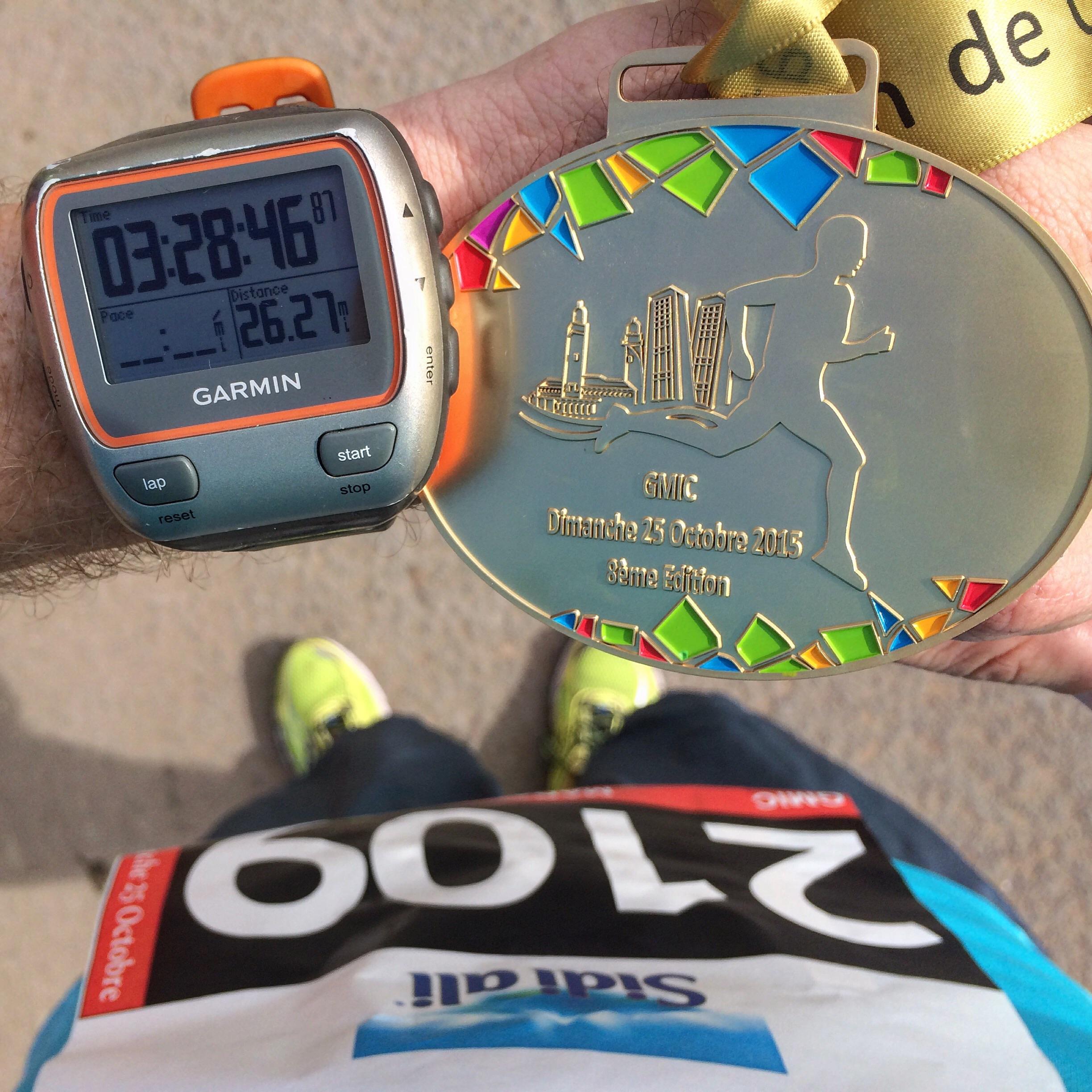 Casablanca Marathon  finish line