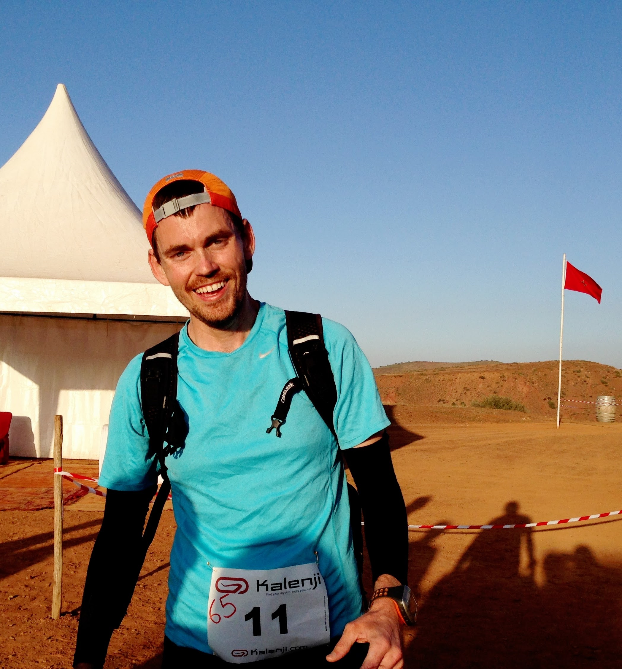 Jonathan finishing a trail race