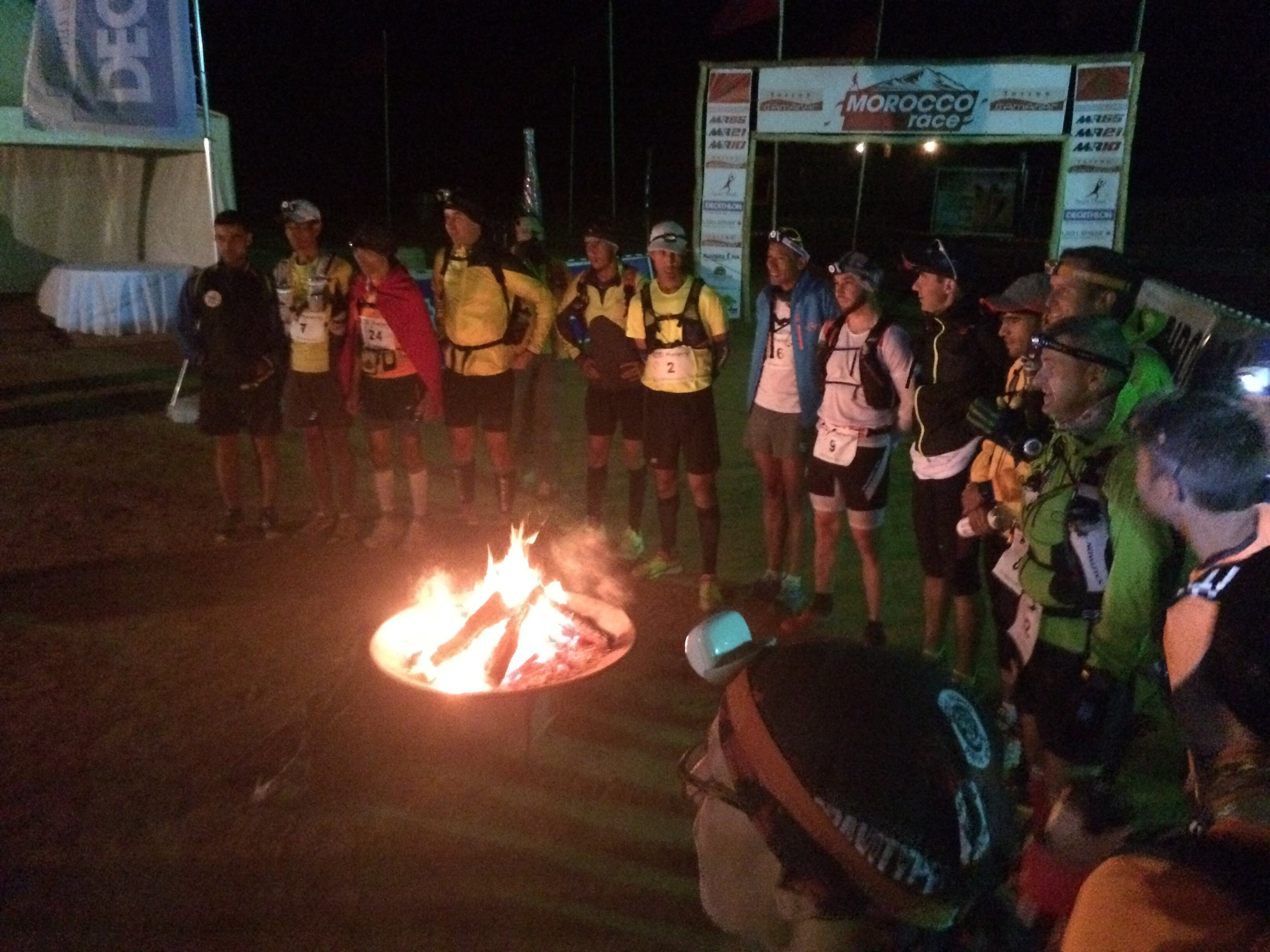 The fire to warm up at was a nice touch for the 5am start