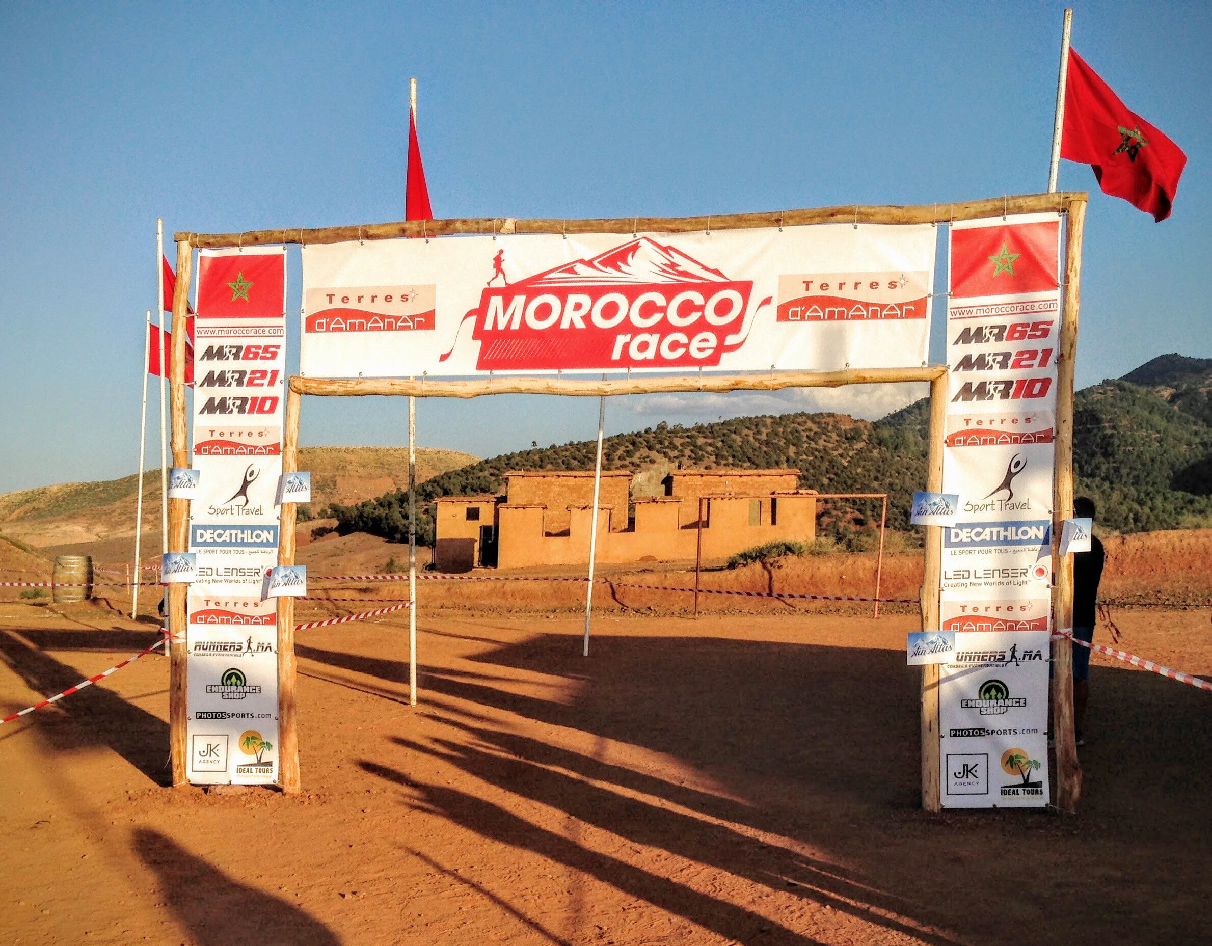 morocco race finish line