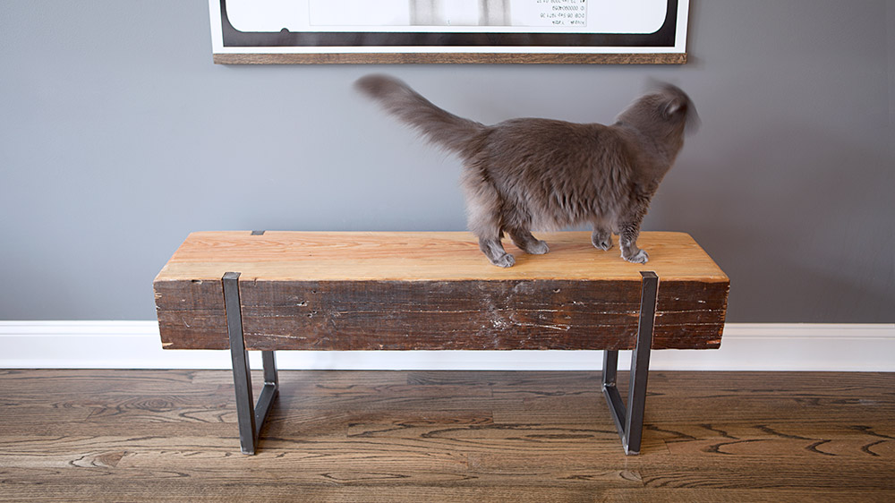 Custom Reclaimed Wood Bench