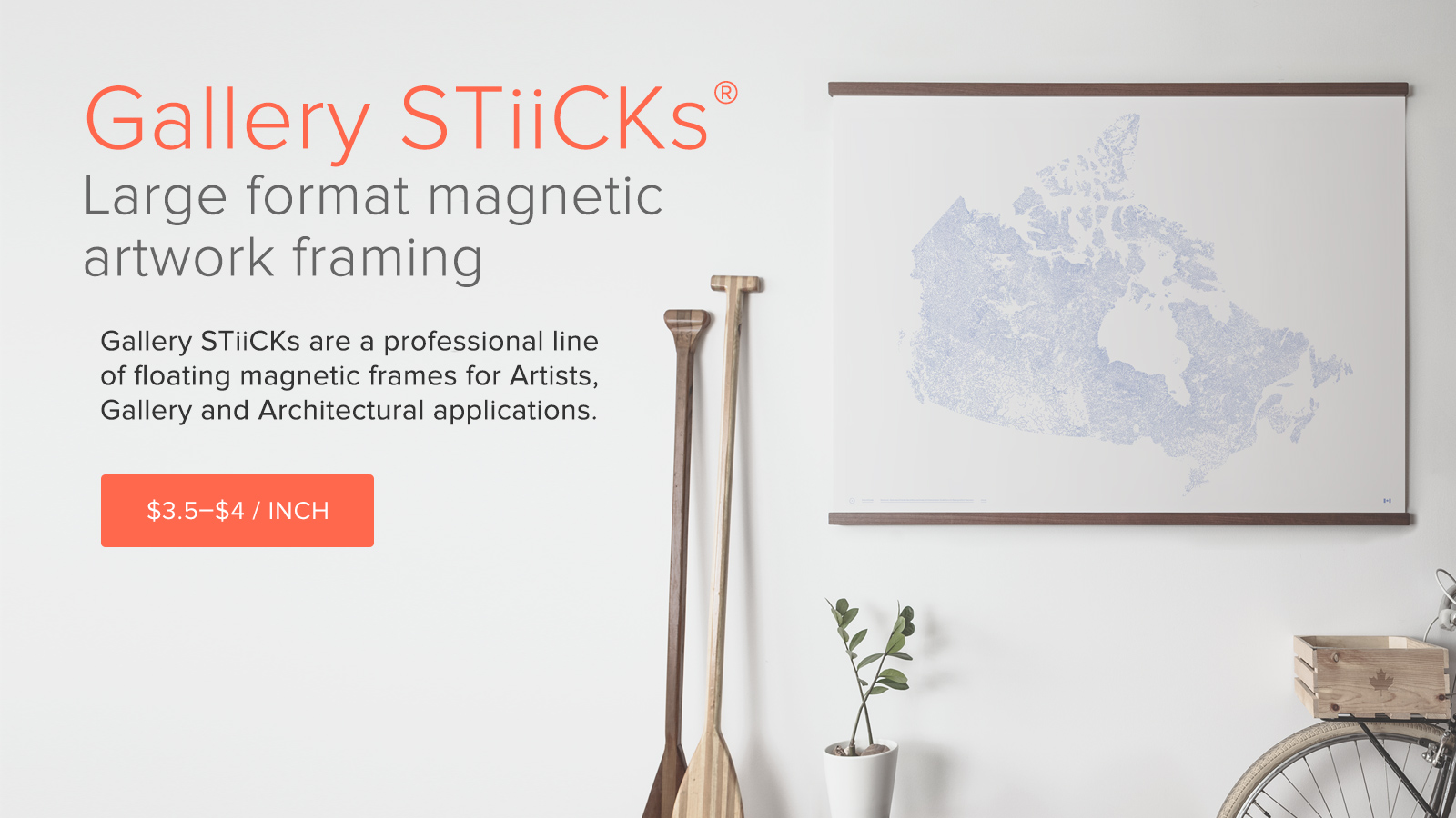 Large format framing alternative