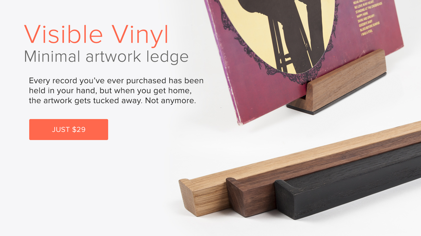 Vinyl Record display shelf frame