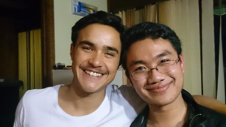 Old mate Gabriel and I, joined at the head and the heart. Sharing the Malaysian Love.