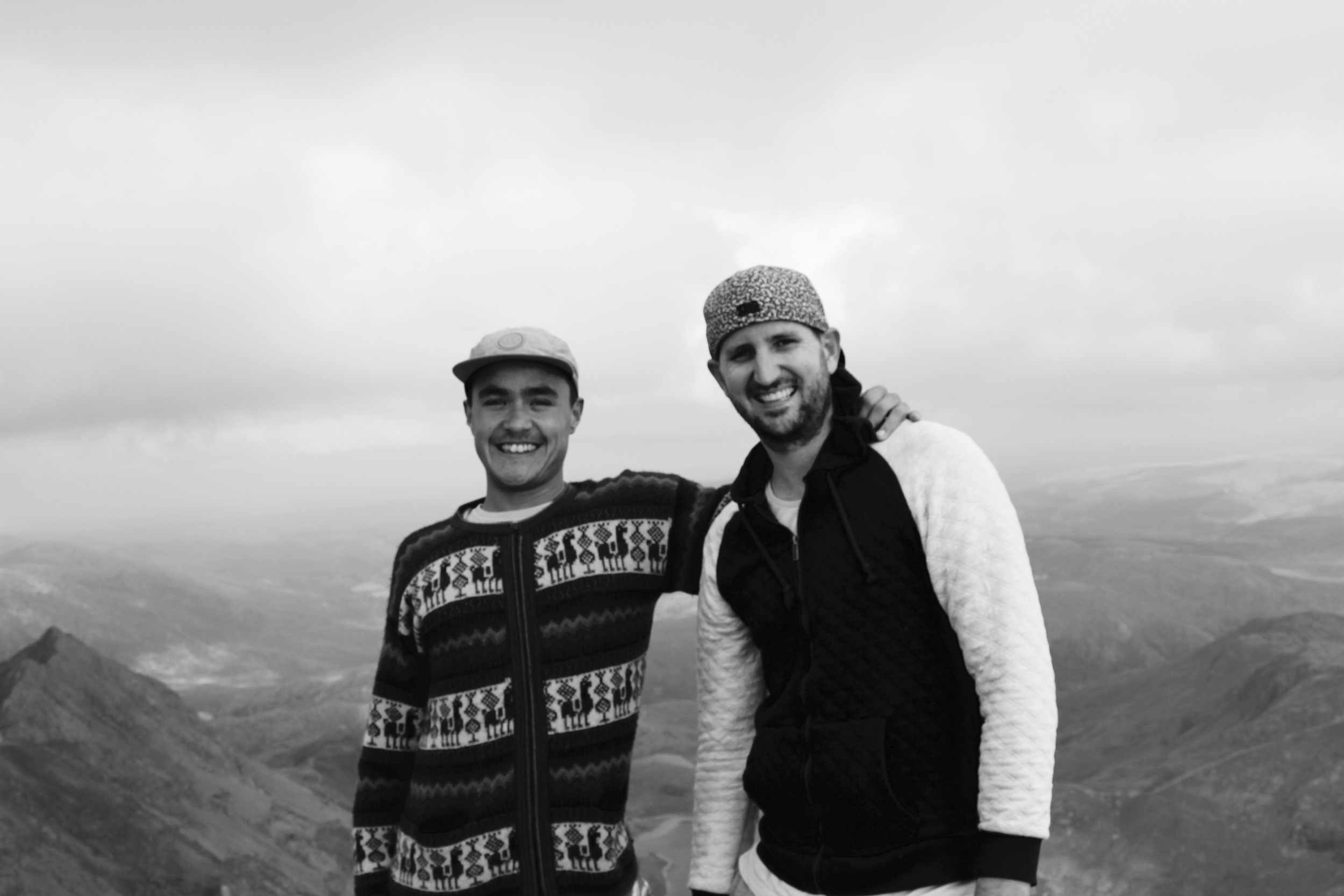 Brothers at the peak.